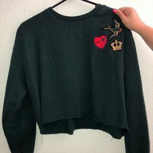 Forever 21 Limited Edition crop sweatshirt